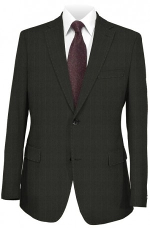 Caneletto Black Tonal Stripe Tailored Fit Suit 187514-1