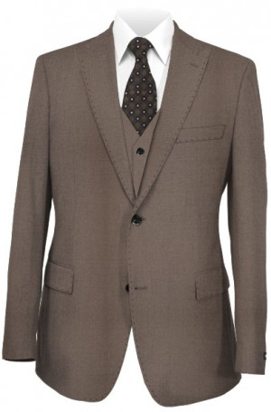 Ralph Lauren Dark Taupe Vested Slim Fit Suit #1RZ1897