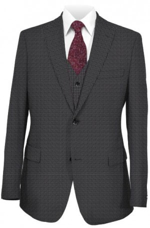 Ralph Lauren Gray Pattern Vested Ultraflex Suit #1RZ1898
