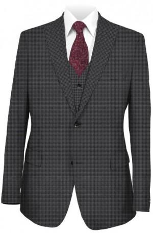 Ralph Lauren Ultraflex Gray Pattern Vested Classic Fit Suit #1RZ1898