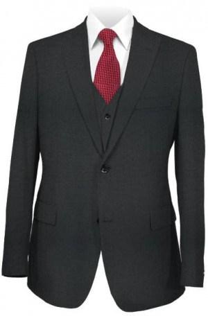 Ralph Lauren Black Tailored Fit Ultraflex Vested Suit #1RZF972