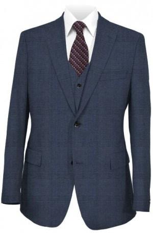 Ralph Lauren Blue Tailored Fit Vested Ultraflex Suit #1RZF983