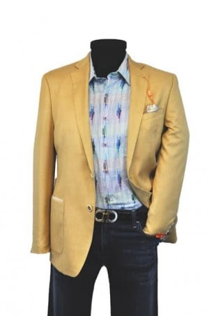 Tallia Soft Gold Slim Fit Casual Sportcoat #1TFV0106