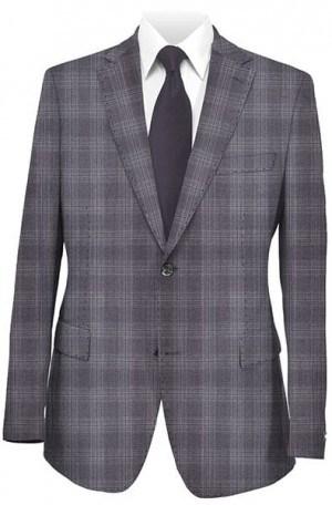 Ike Behar Blue-Gray Pattern Slim Fit Suit #20-068343-426