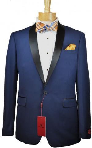 Renoir Blue Shawl Collar Slim Fit Tuxedo #201-19T