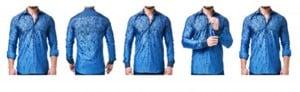 Maceoo Blue Pattern Shirt #2016020100193