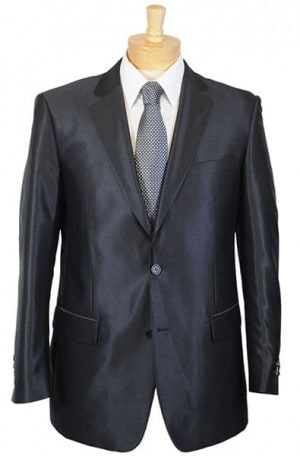 Renoir Black Solid Color Suit #207-1