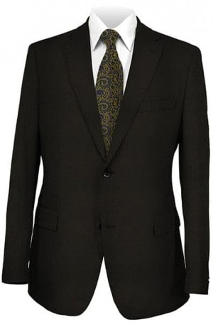 Mattarazi Black Tone-on-Tone Suit #21005-1
