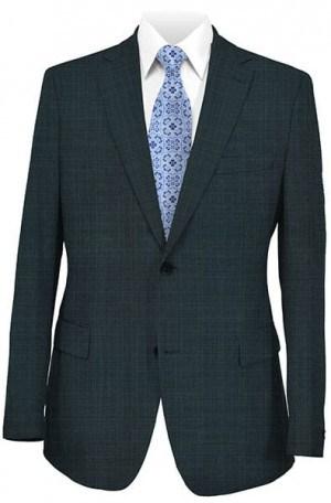 Joseph Abboud Medium Blue Windowpane Suit #210100
