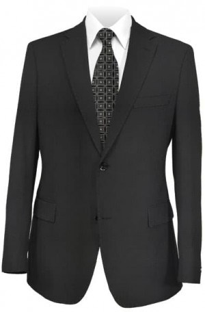 Pal Zileri Black Solid Color Suit #21018-20