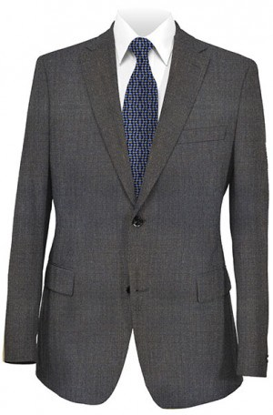 Mattarazi Brown Tick Weave Tailored Fit Sportcoat #2174015