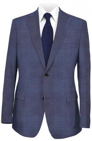 Mattarazi Blue Pattern Tailored Fit Sportcoat #2174086