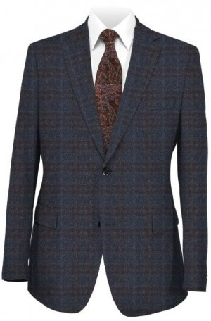 Pal Zileri Blue & Brown Sportcoat #21811-15