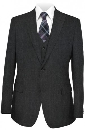 1...Like No Other Charcoal Vested Slim Fit Suit #218371