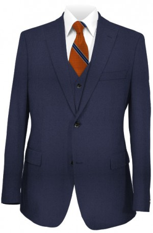 1...Like No Other Navy Vested Slim Fit Suit #218377