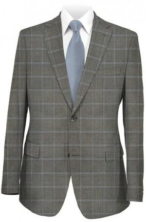 Joseph Abboud Dark Taupe Windowpane Sportcoat #219311