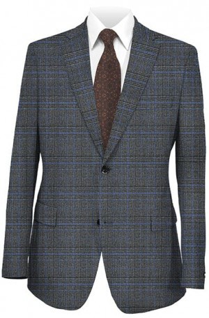Betenly Gray & Blue Pattern Sportcoat 22015