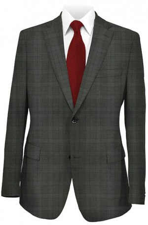 Betenly Charcoal Pattern Tailored Fit Suit #222007