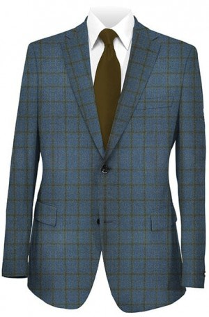 Betenly Blue & Brown Pattern Sportcoat #222011