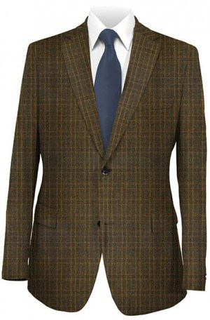 Betenly Medium Brown Pattern Sportcoat #222013