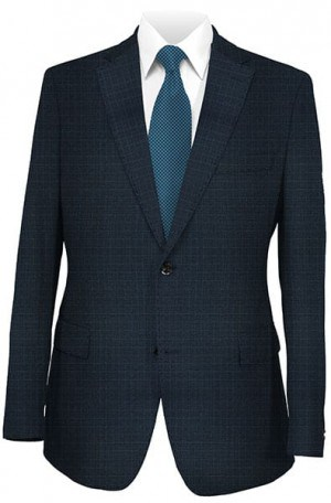 Paul Betenly Navy Check Tailored Fit Suit #222020