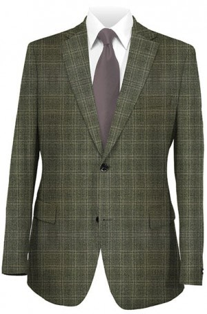 Betenly Dark Tan Windowpane Sportcoat #222041