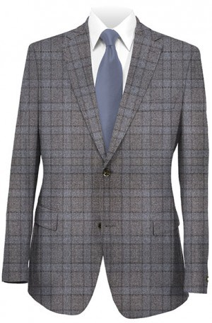 Rubin Taupe Windowpane Gentleman's Fit Sportcoat 22342