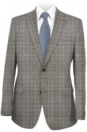 Rubin Taupe Plaid Gentleman's Cut Suit 22574