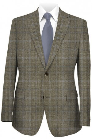 Rubin Brown Pattern Gentleman's Fit Sportcoat 22623