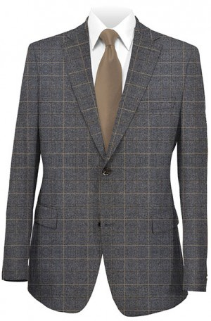 Rubin Gray & Tan Gentleman's Fit Sportcoat 22639