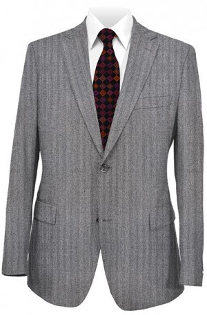 Rubin Gray Herringbone Gentleman's Cut Suit 22644