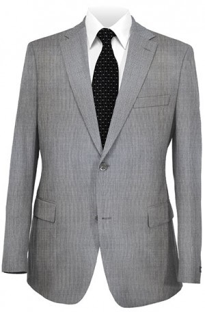 Joseph Abboud Gray Birdseye Suit with Pleated Slacks #230060
