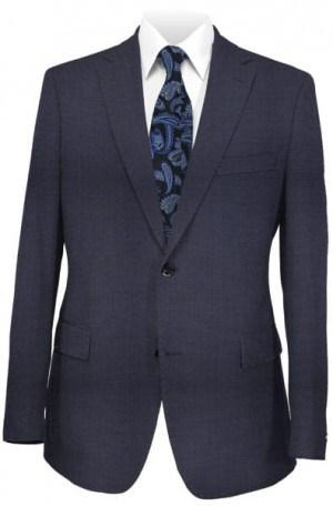 Varvatos Navy Micro-Check/Tick Weave Slim Fit Suit #2345B