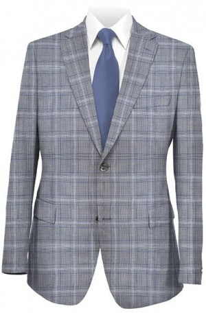 Betenly Gray Plaid Tailored Fit Sportcoat #241018