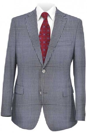 Betenly Blue & White Summer Weight Tailored Fit Sportcoat #241023