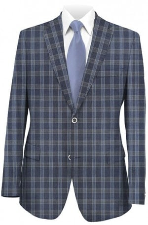 Betenly Navy Pattern Sportcoat 241040