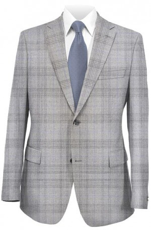 Betenly Gray Pattern Tailored Fit Sportcoat #241073