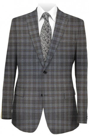 Betenly Gray Check Tailored Fit Sportcoat #242001