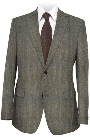 Petrocelli Gray Herringbone Gentleman's Fit Sportcoat 25103