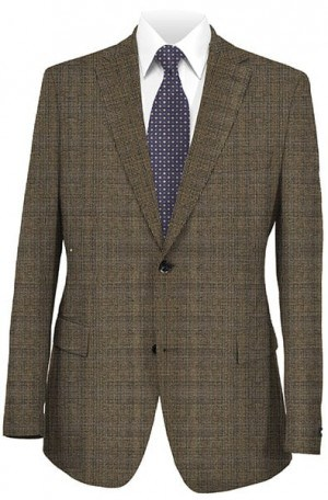Abboud Brown Check Gentleman's Fit Sportcoat 25105-2B