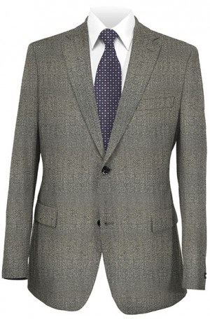 Petrocelli Gray Herringbone Gentleman's Fit Sportcoat #25301