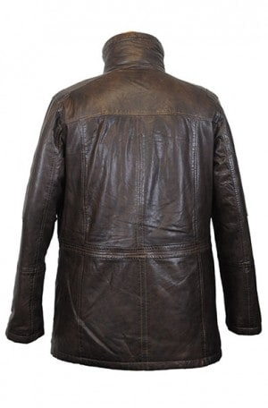 Regency La Marque Brown Leather Car Coat #263LMR63503NH
