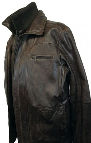 Regency La Marque Black Leather Bomber Jacket #264407-BLK
