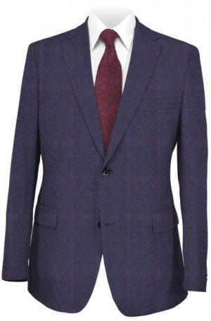Canaletto Blue Pattern Tailored Fit Sportcoat #27543-3