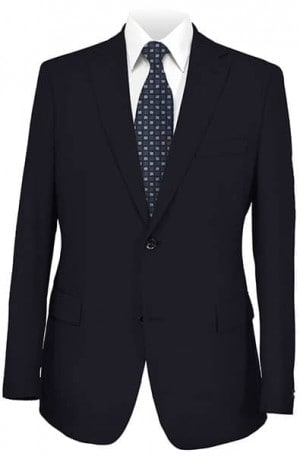 Hugo Boss Navy Solid Color Tailored Fit Suit #28332-SV