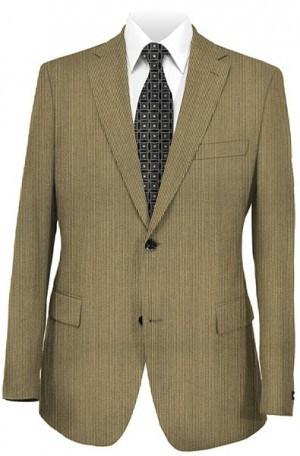 Raymond Medium Brown Stripe Suit with Pleated Slacks #28553