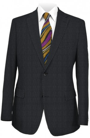 Canaletto Black Tonal Plaid Tailored Fit Suit #286-314-1