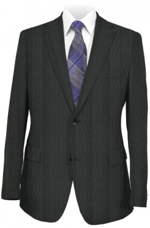 Canaletto Navy Quiet Pattern Tailored Fit Suit 286419-2