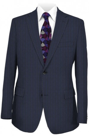Canaletto Navy Stripe Tailored Fit Suit #286554-2-2B