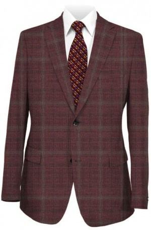 Paul Betenly Burgundy Pattern Sportcoat #2JS71047